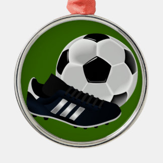 Soccer Ball and Shoe Christmas Ornaments