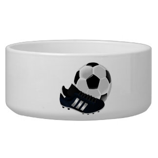 Soccer Ball and Shoe Dog Water Bowls