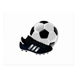 Soccer Ball and Shoe Postcard