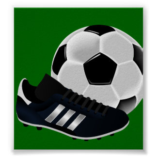 Soccer Ball and Shoe Print
