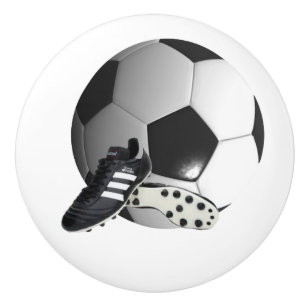 Soccer Ball And Shoes, Draw Knob  Ceramic Knob