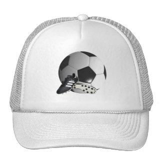 Soccer_Ball_And_Shoes_Sporty_Truckers_Cap. Trucker Hat