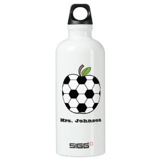 Soccer Ball Apple Gym Teacher Aluminum Water Bottle