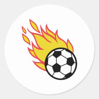 Soccer Ball Appliqué Classic Round Sticker