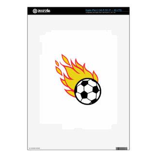 Soccer Ball Appliqué Skins For iPad 3