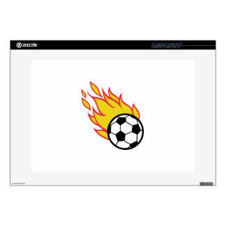Soccer Ball Appliqué Skins For Laptops
