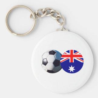 Soccer Ball & Australia Flag The MUSEUM Zazzle Key Chain