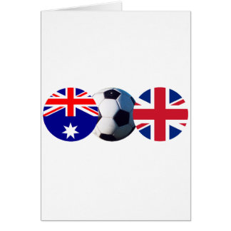 Soccer Ball Australia & UK Flag The MUSEUM Zazzle Card