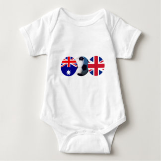 Soccer Ball Australia & UK Flag The MUSEUM Zazzle T Shirt