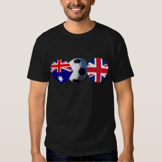 Soccer Ball Australia & UK Flag The MUSEUM Zazzle T-shirt