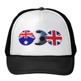 Soccer Ball Australia & UK Flag The MUSEUM Zazzle Trucker Hat