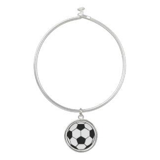 Soccer Ball Bangle Bracelet