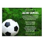 Soccer Ball Bar Mitzvah 5x7 Paper Invitation Card