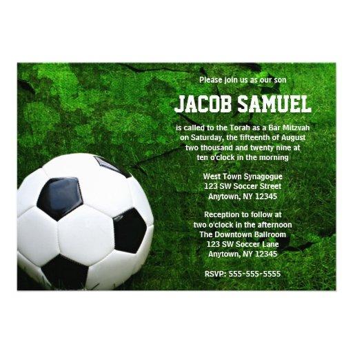 Soccer Ball Bar Mitzvah Invites
