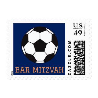 Soccer ball bar mitzvah postage stamp
