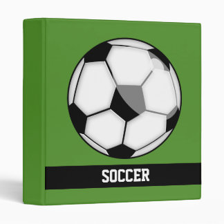 Soccer Ball Vinyl Binder
