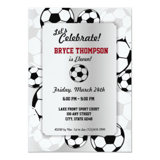 Soccer Ball Birthday Party Card