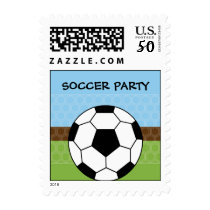 Soccer Ball Birthday Party Postage