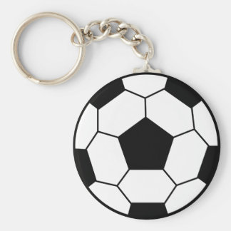 Soccer Ball Black Keychain