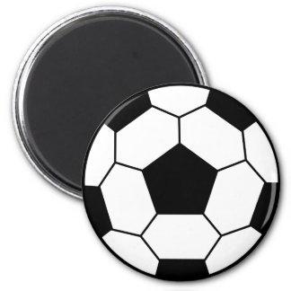 Soccer Ball Black Magnet