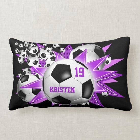 Soccer Ball Blowout Girls' soccer Lumbar Pillow