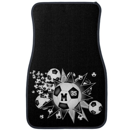 soccer ball blowout personalized sports ANY COLOR Car Floor Mat