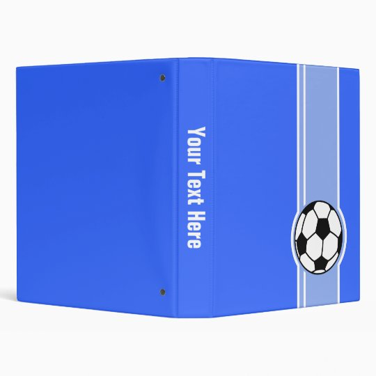 Soccer Ball; Blue Binder