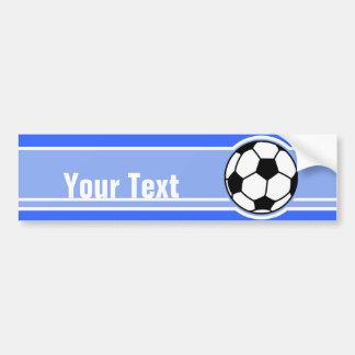 Soccer Ball; Blue Bumper Sticker