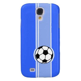 Soccer Ball; Blue Samsung Galaxy S4 Cover