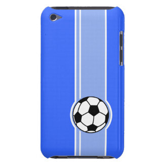 Soccer Ball; Blue Barely There iPod Cases