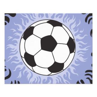 soccer ball blue flames flyer