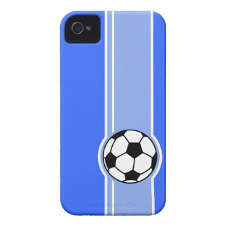 Soccer Ball; Blue iPhone 4 Cover