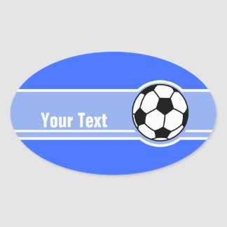 Soccer Ball; Blue Oval Sticker