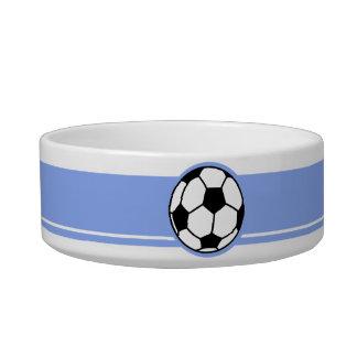 Soccer Ball; Blue Pet Water Bowls