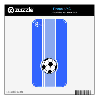 Soccer Ball; Blue Skin For iPhone 4S