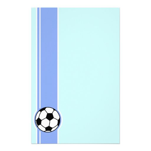 Soccer Ball; Blue Stationery Paper