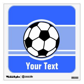 Soccer Ball; Blue Wall Decor