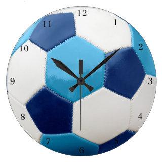 Soccer Ball Blues Large Clock