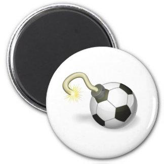 Soccer ball bomb concept refrigerator magnets