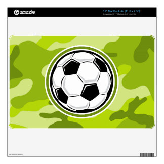 Soccer Ball; bright green camo, camouflage Decal For MacBook Air