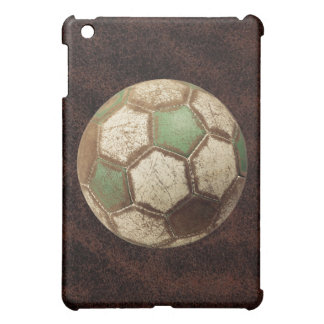Soccer Ball Brown Leather iPad Case
