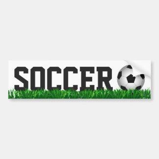Soccer ball bumper sticker