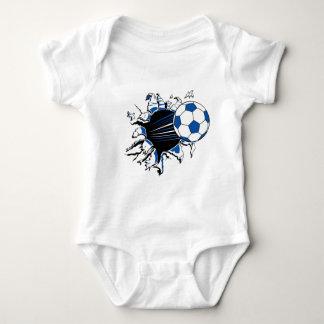 Soccer Ball Burst Baby Bodysuit