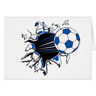 Soccer Ball Burst Greeting Card