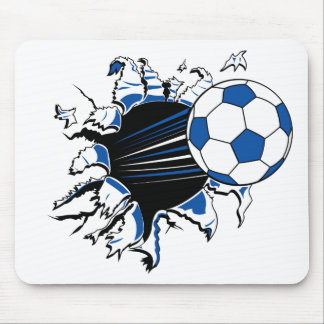 Soccer Ball Burst Mouse Pad