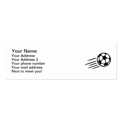 Soccer ball business cards