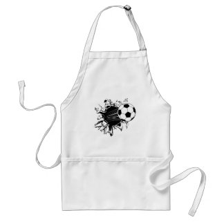 Soccer Ball Busting Out Adult Apron