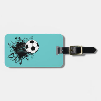 Soccer Ball Busting Out Luggage Tag