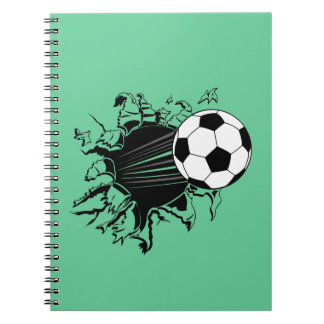 Soccer Ball Busting Out Notebook