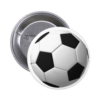 Soccer Ball: 2 Inch Round Button